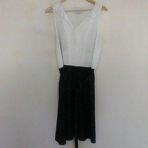 Loft polka dot dress size 14
